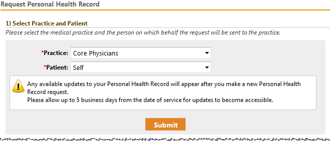 personal health record form